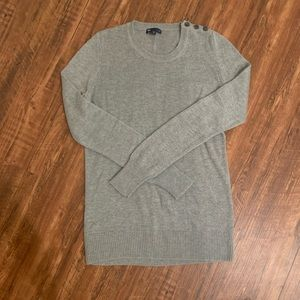 Button detail gray sweater size small